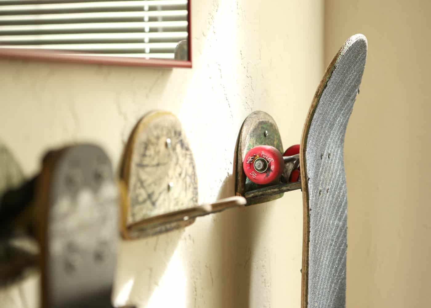 Skateboard hangers for new boards