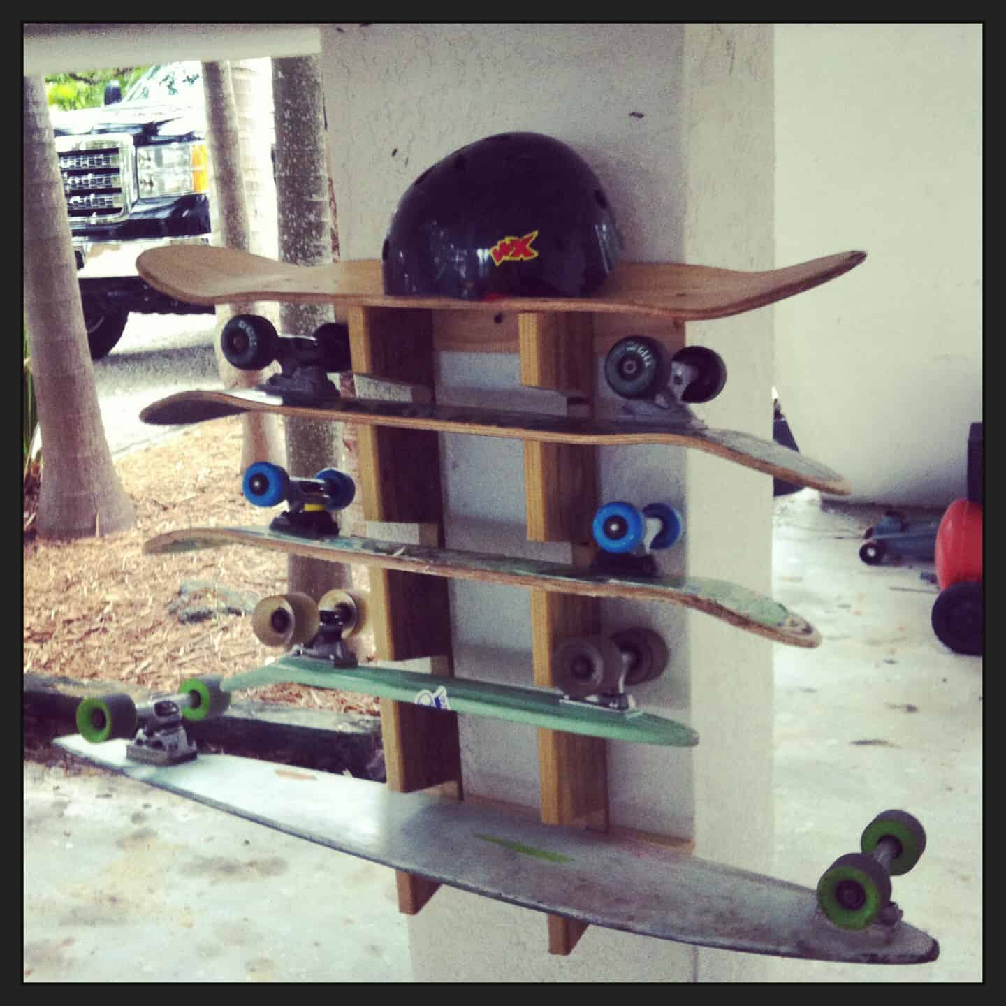 Skateboard Wall Rack