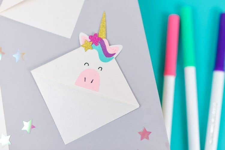Unicorn bookmarks diy