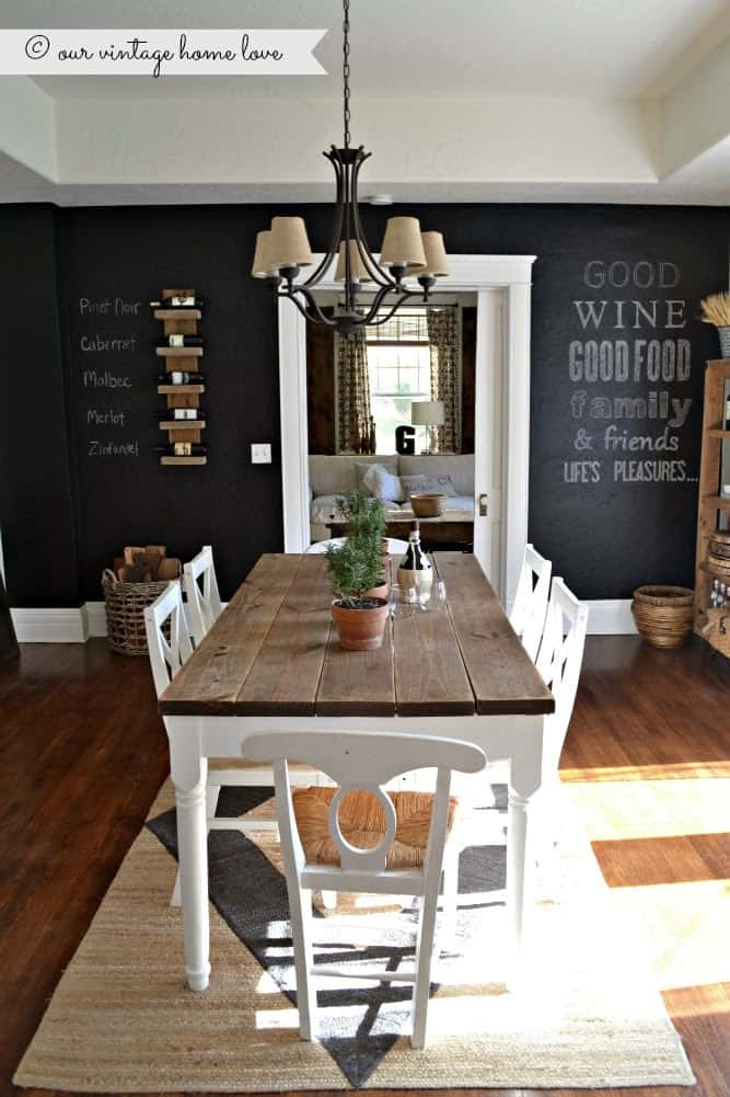 Black Chalkboard Wall Farmhouse Home