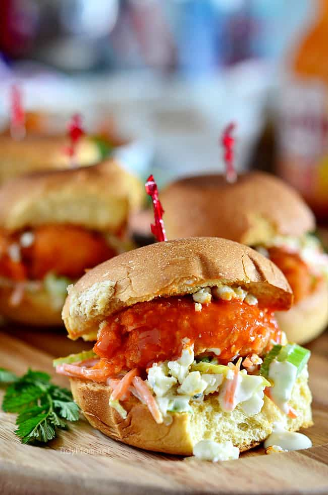 Beer battered buffalo shrimp sliders recipe at tidymom net