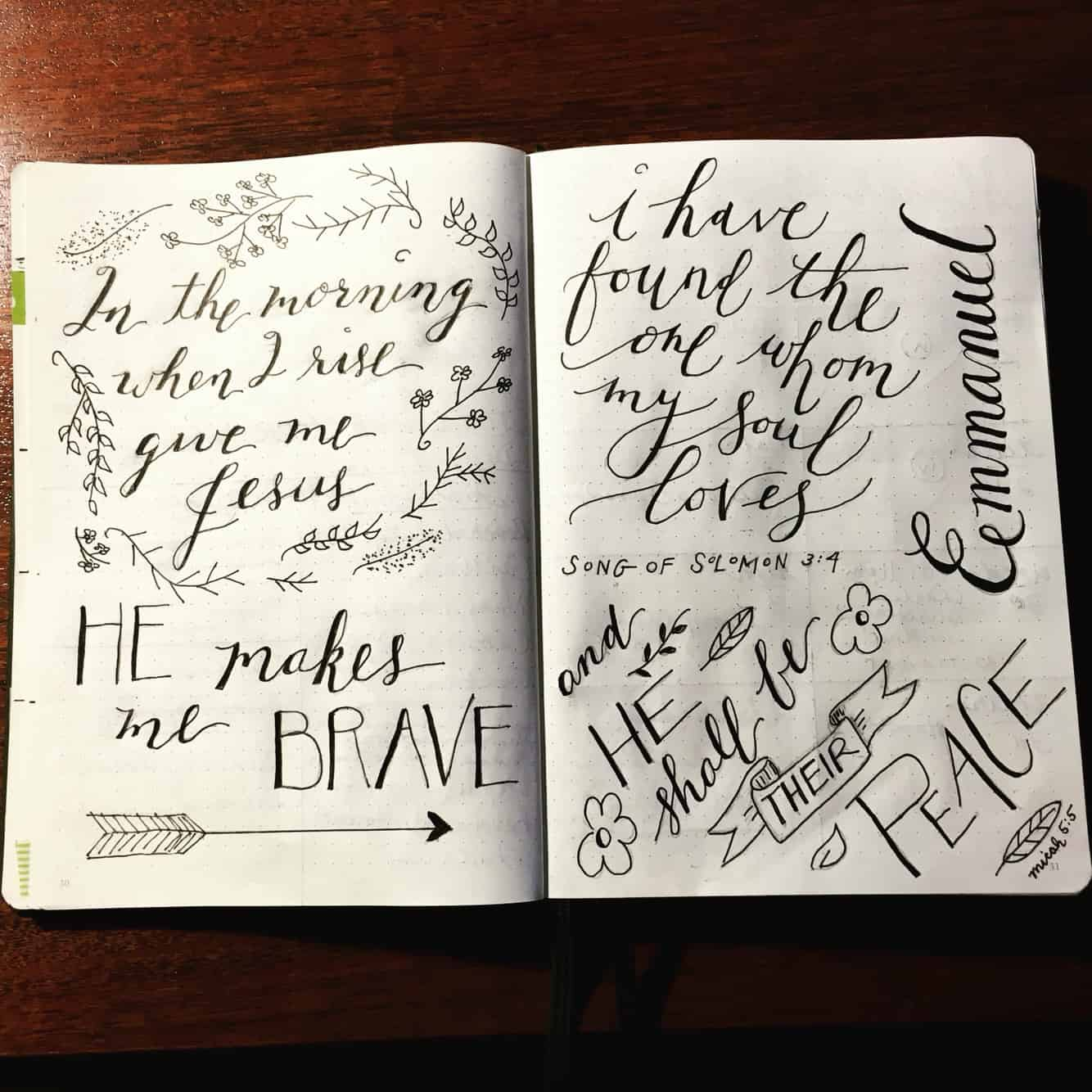 Calligraphy journal idea