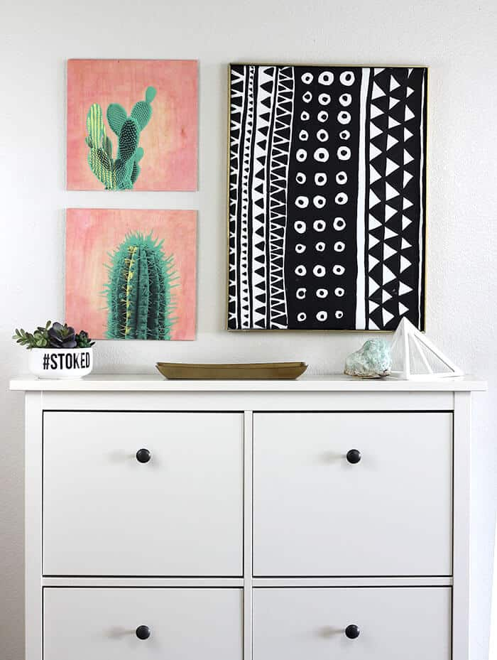 Diy cactus wall art