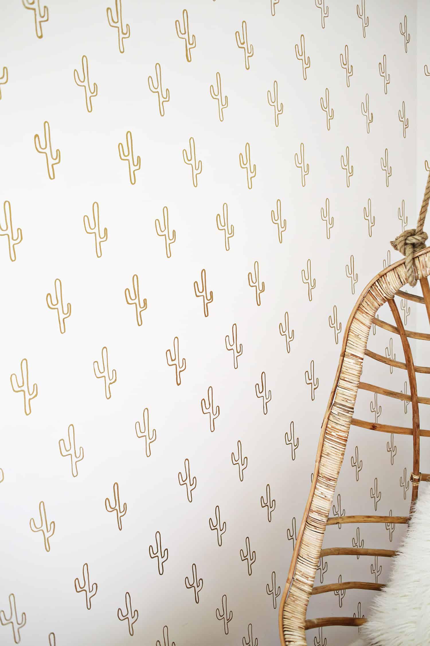 Diy cactus wallpaper
