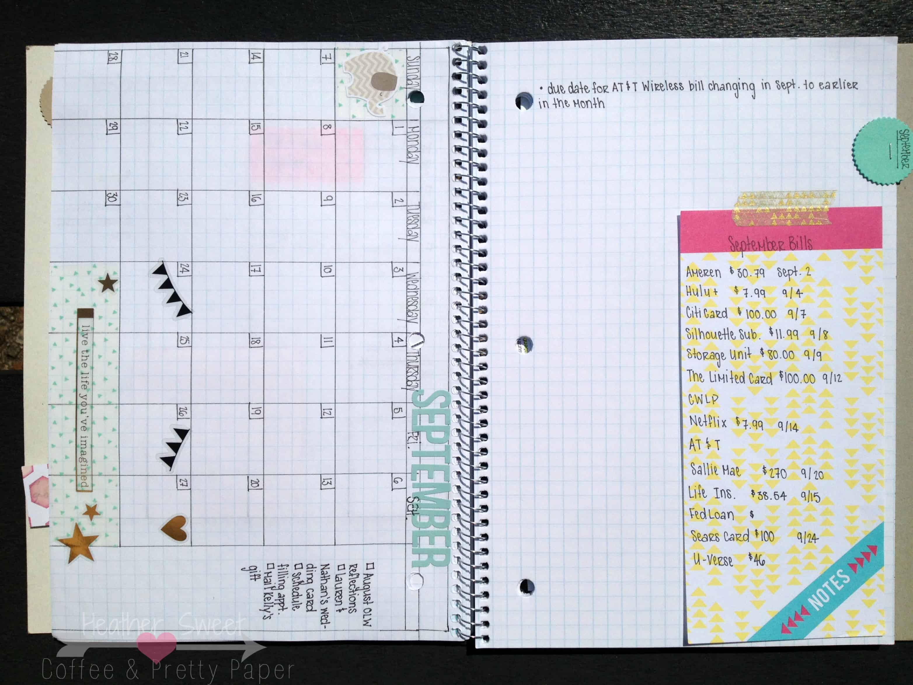 Diy Notebook Calendar : Different ways to use a blank notebook