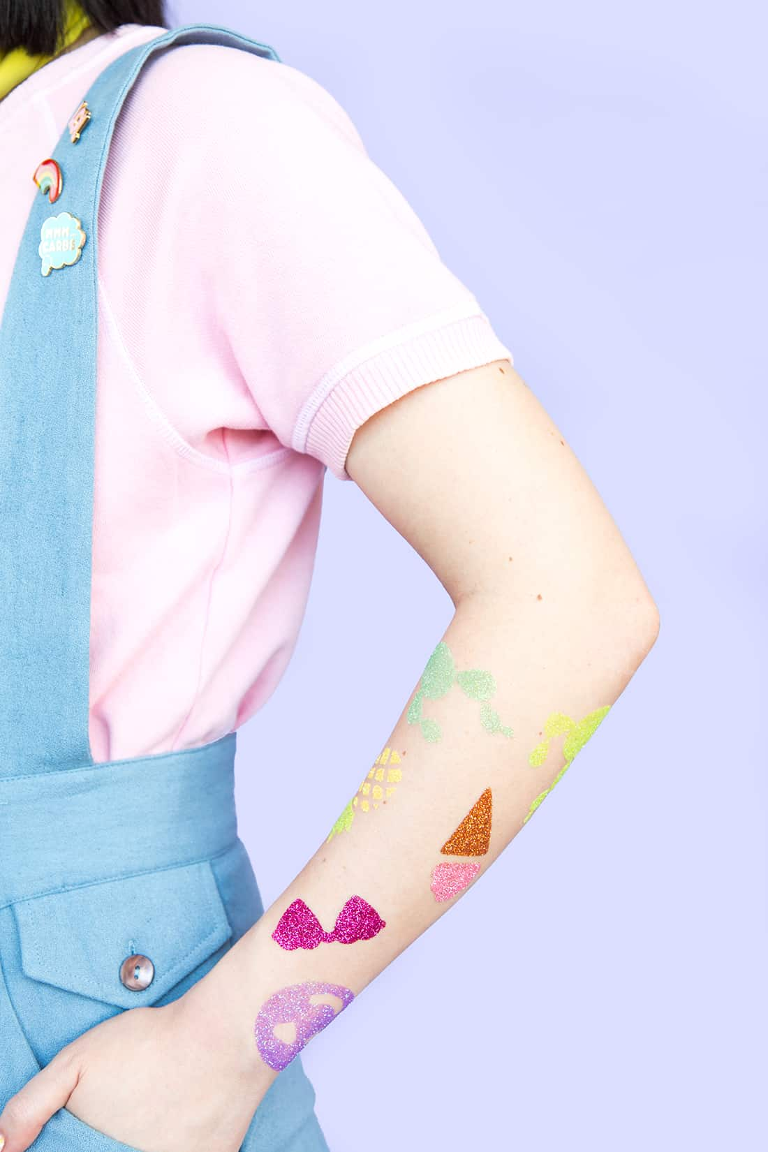 Diy glitter temporary tattoos