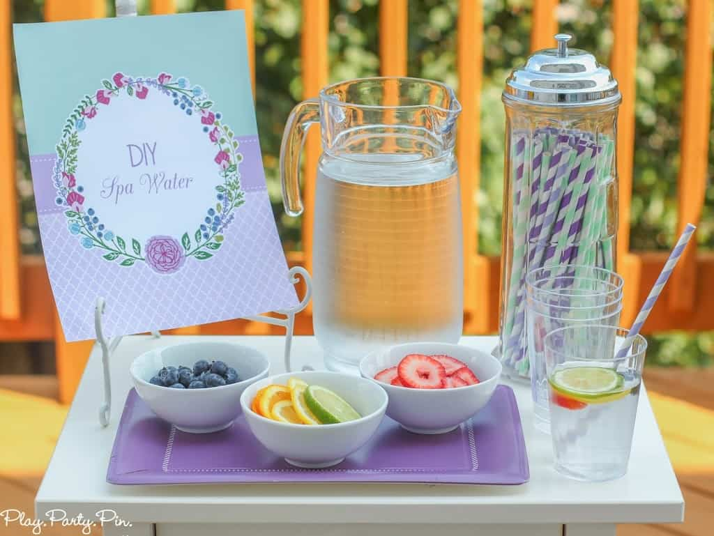 Diy spa water bar