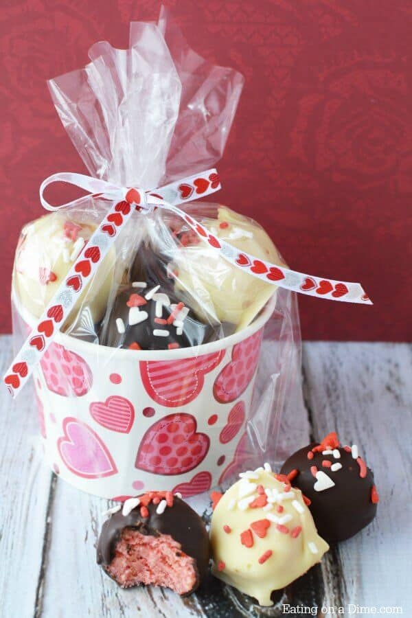 Easy cake balls for valentine's day