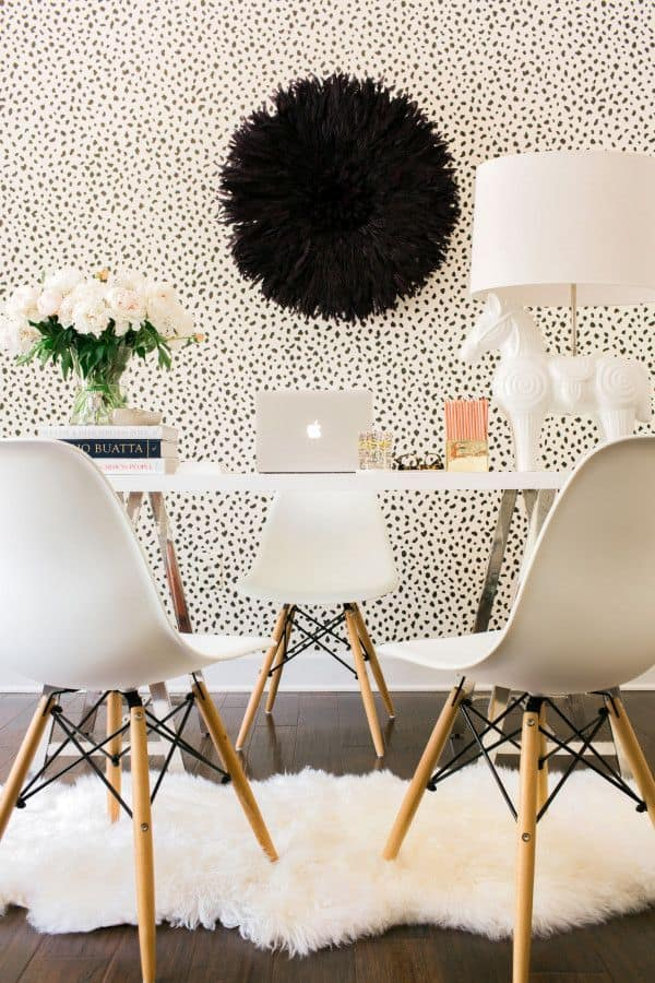 Faux fur base for your dining room table