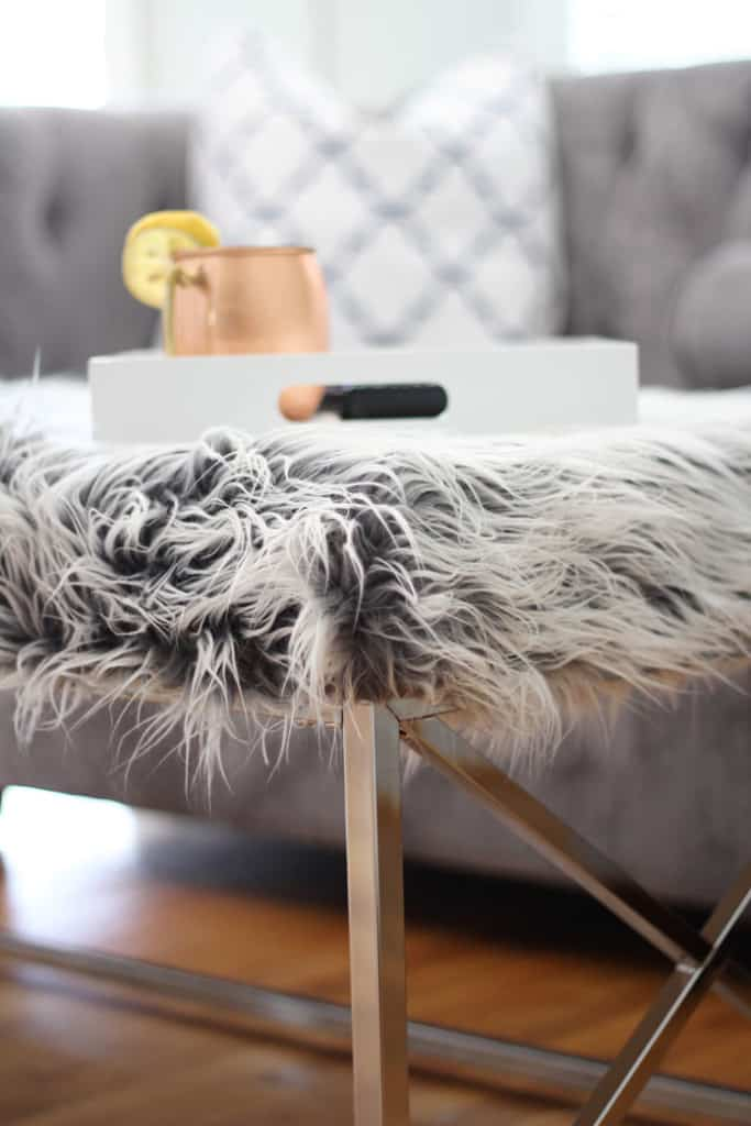 Faux fur coffee table