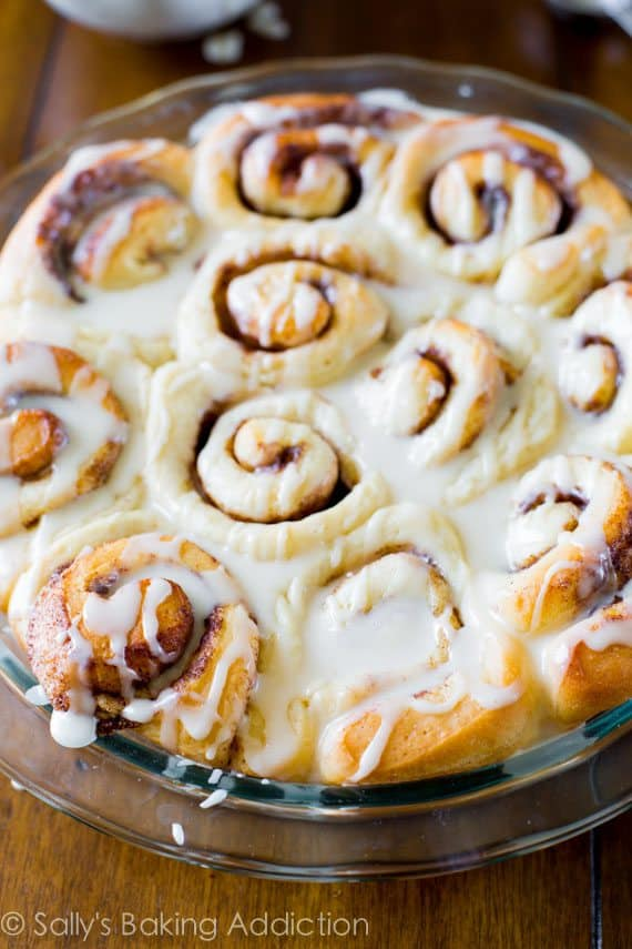 From scratch classic cinnamon rolls