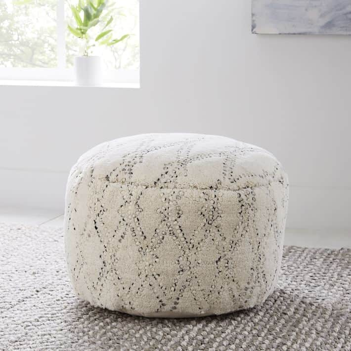 Hazy lattice pouf from west elm