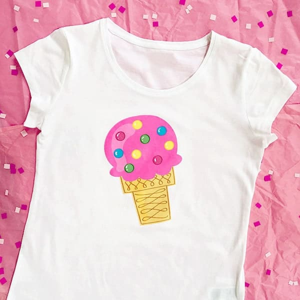 Ice cream cone shirt made with cricut