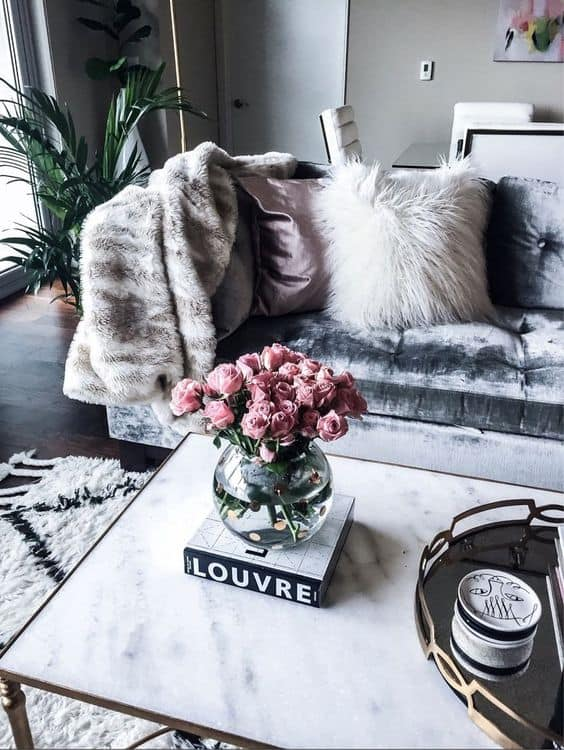 Layer faux furs in the house