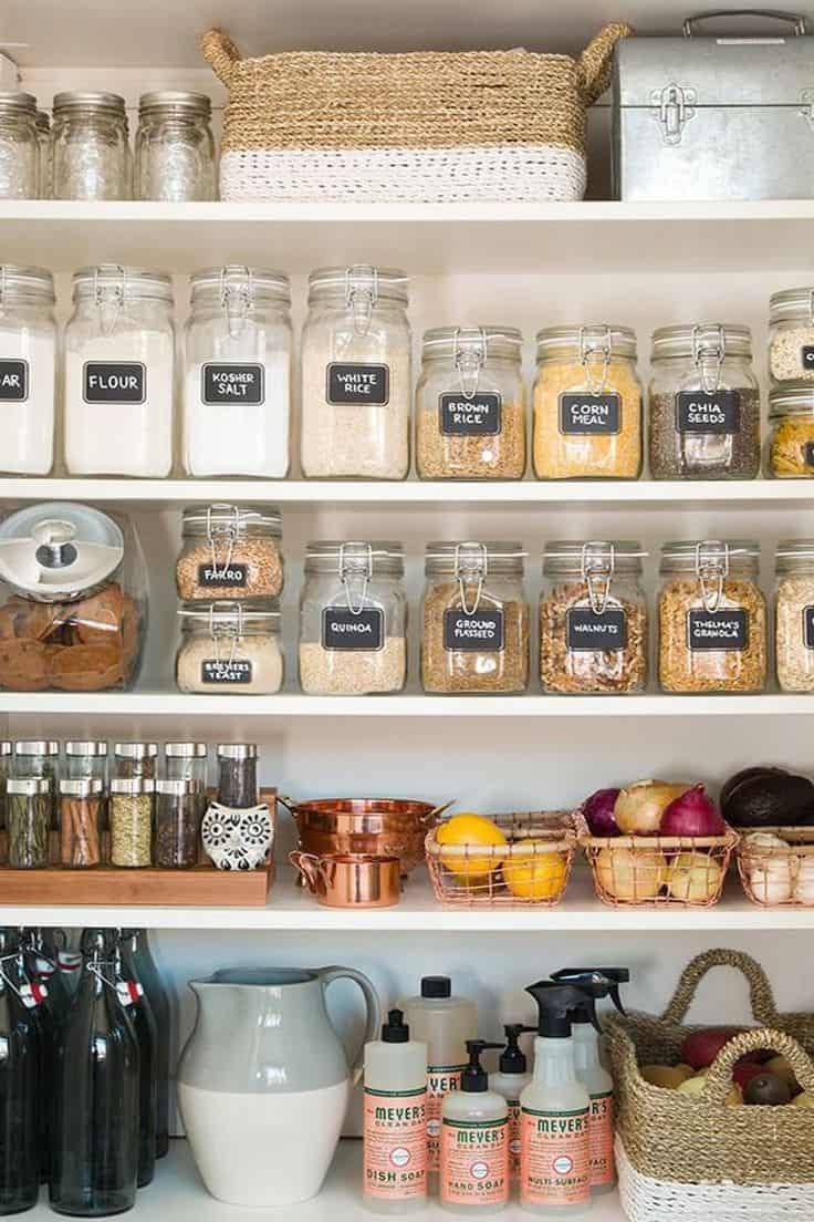 Modern organized pantry