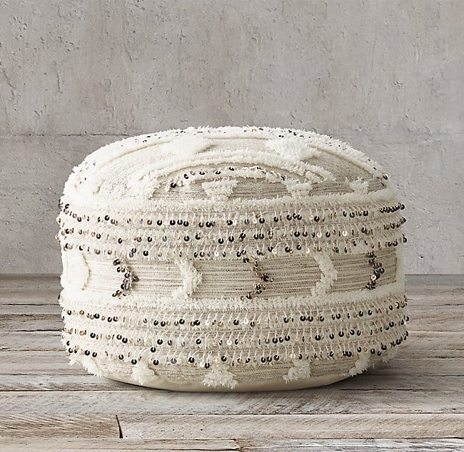 Moroccan wedding round pouf