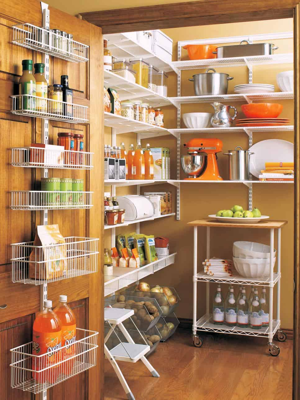 Orange organized pantry