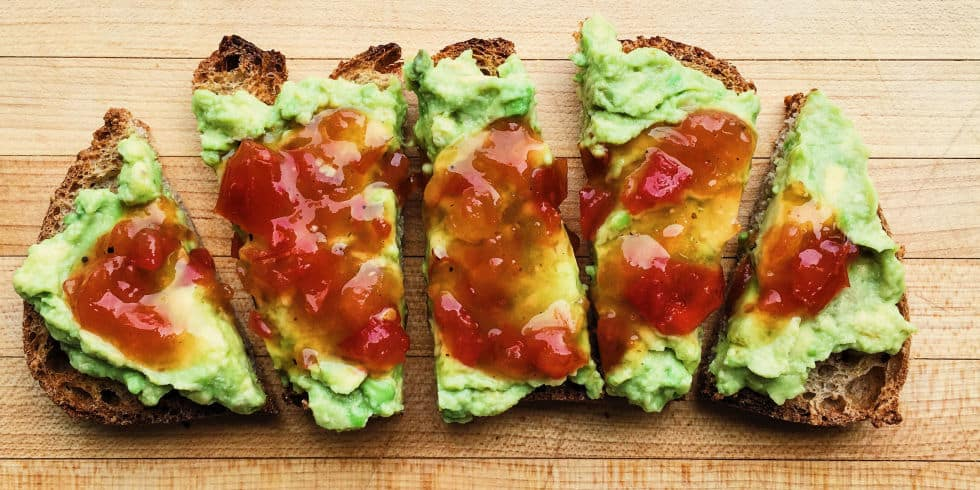 Peppery avocado toast recipe