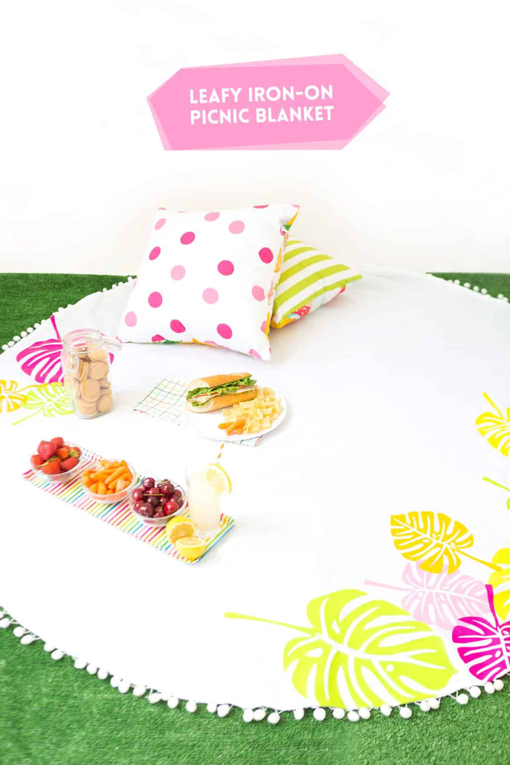 Picnic blanket with cricut