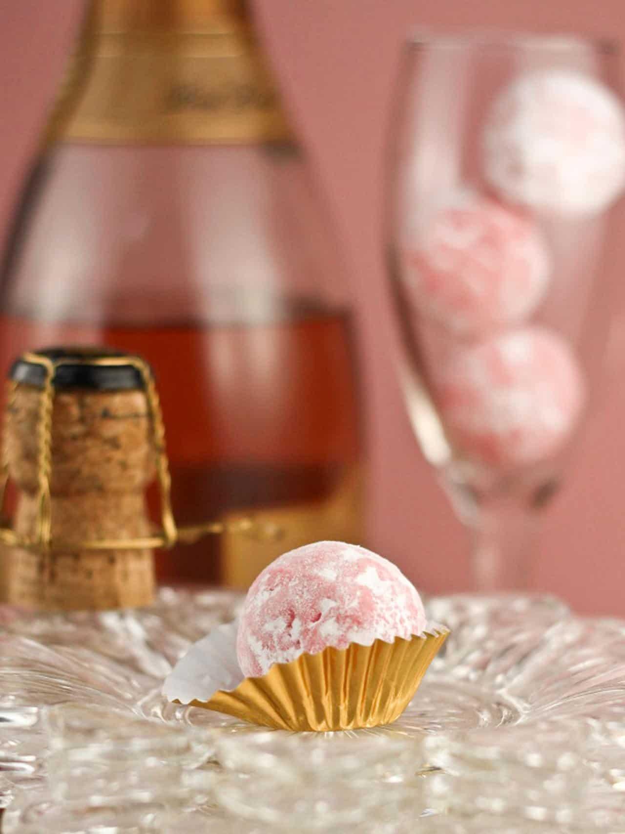 Pink champagne truffle recipe