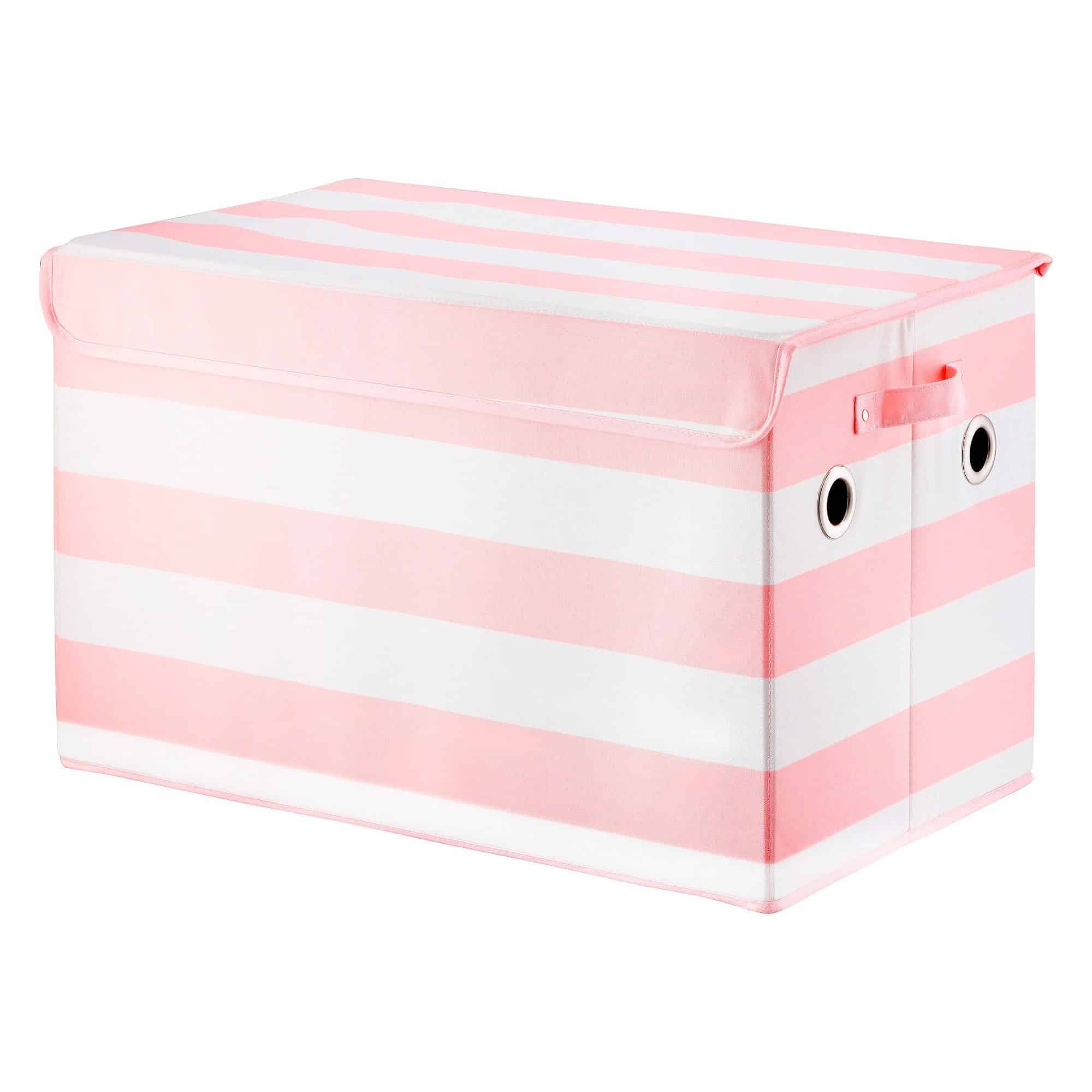 Pink rectangle storage bin