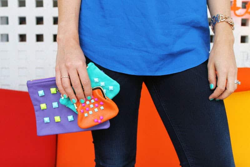 Studded clutch diy