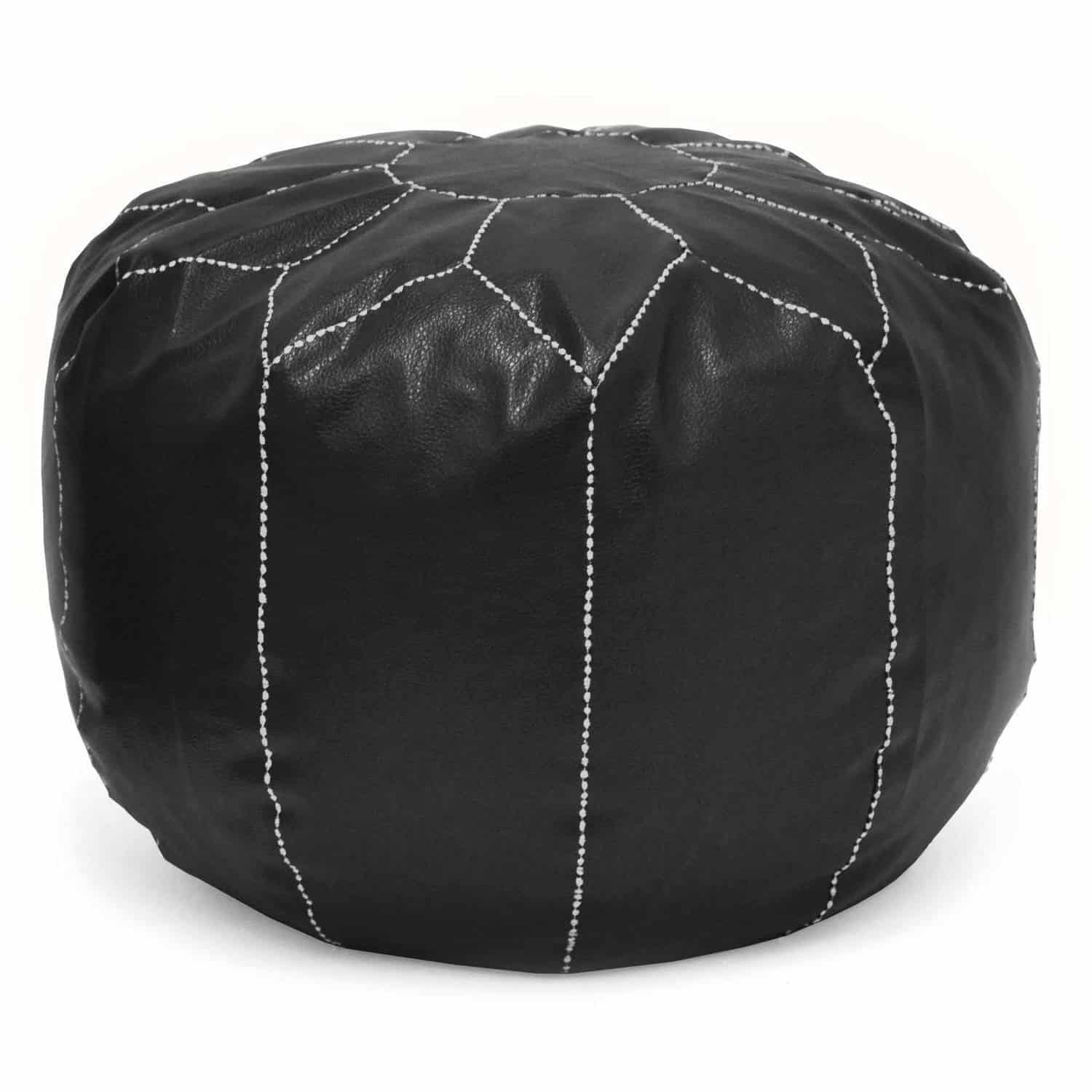 Urban shop faux leather pouf from walmart