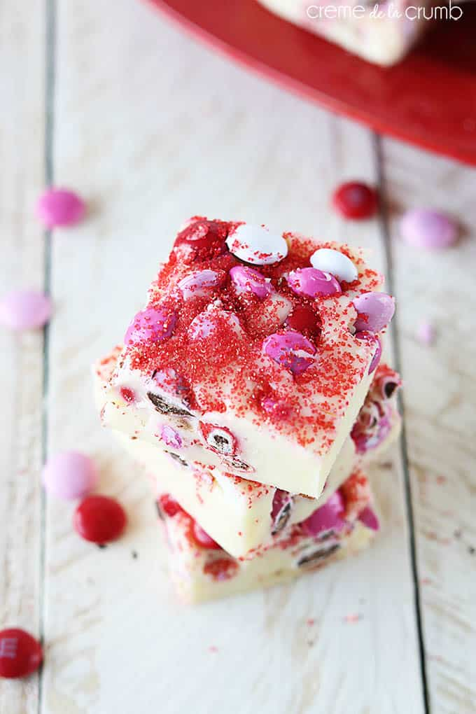 Valentines mm fudge recipe