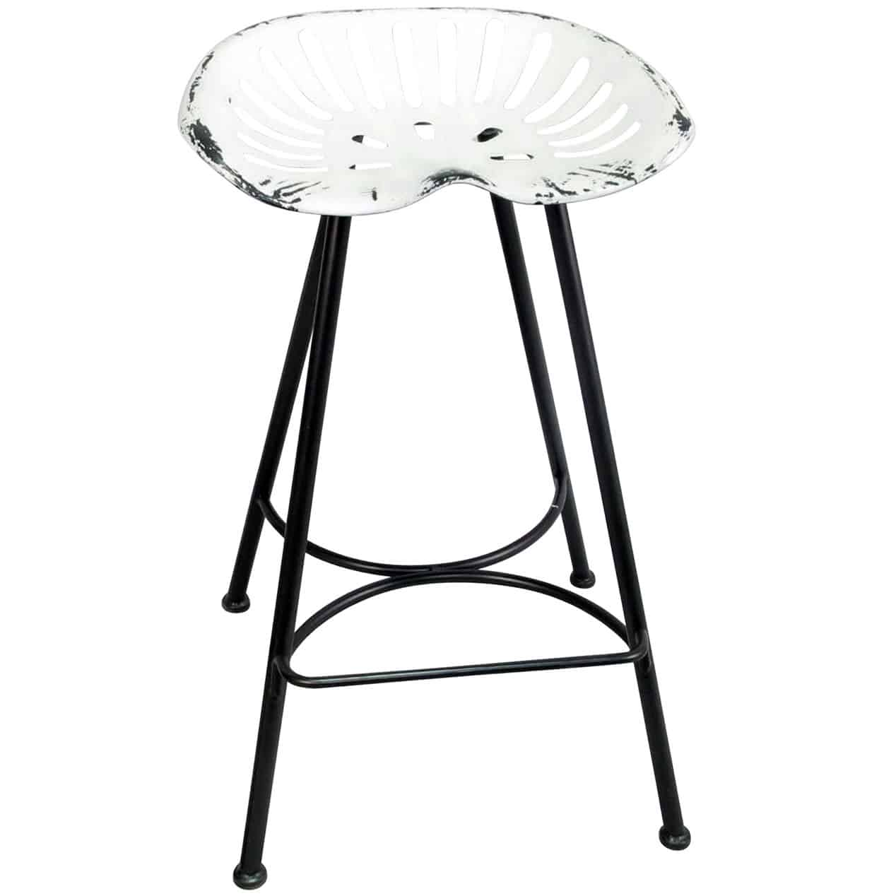 White tractor bar stool from at home