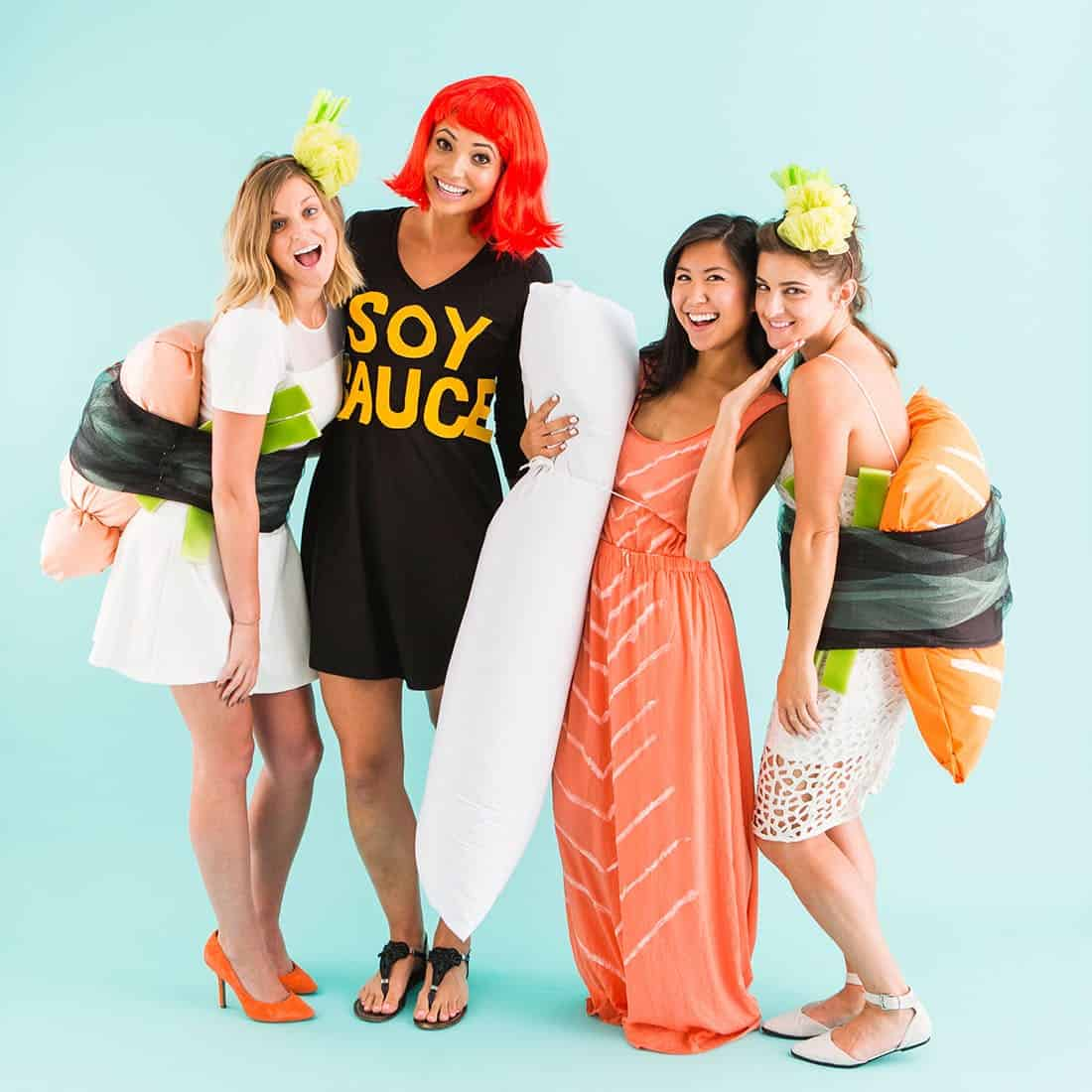 Adult diy sushi costumes