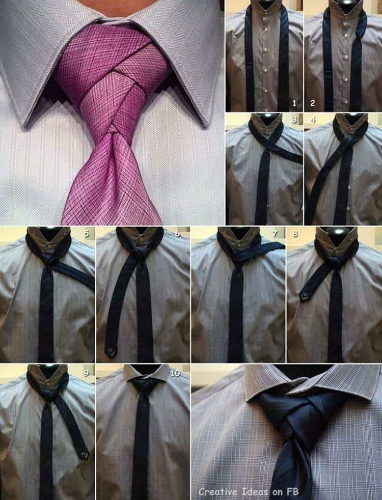 Awesome double necktie knot