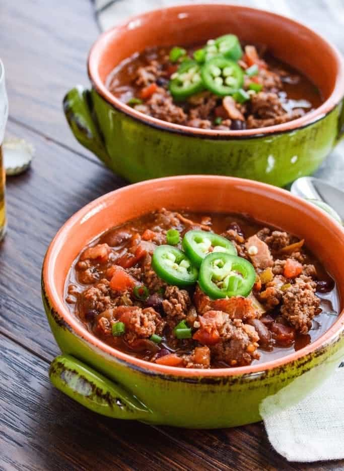 Bason bison beer chili