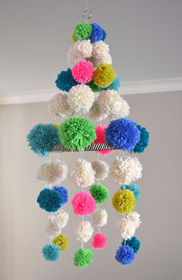 Bright pom pom chandeliar