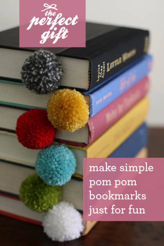 Colourful yarn ball bookmarks