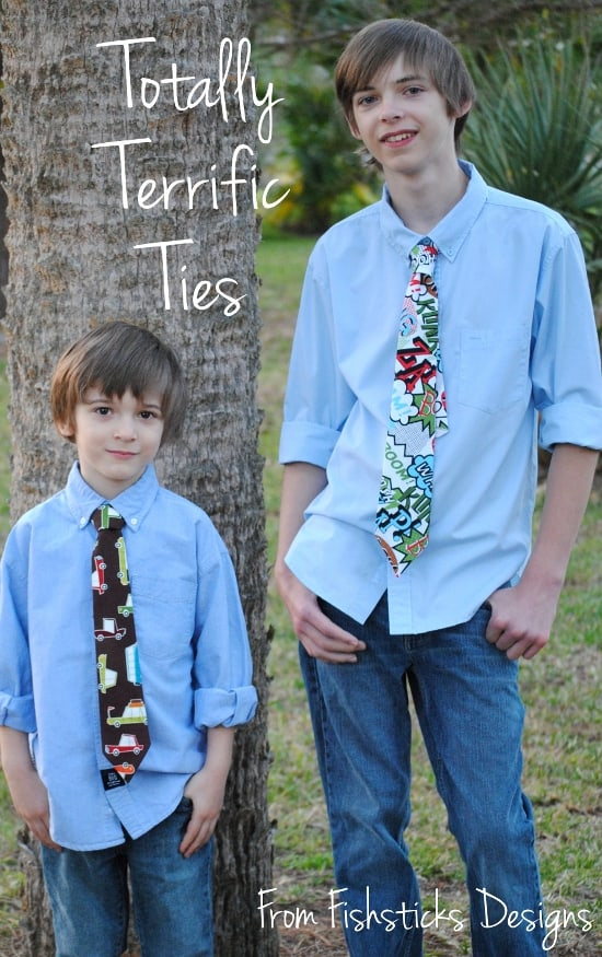 Cool patterned graphic fabric ties