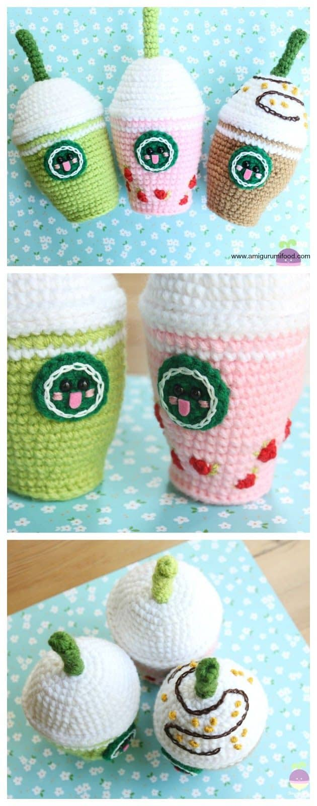 Crocheted frapaccinos
