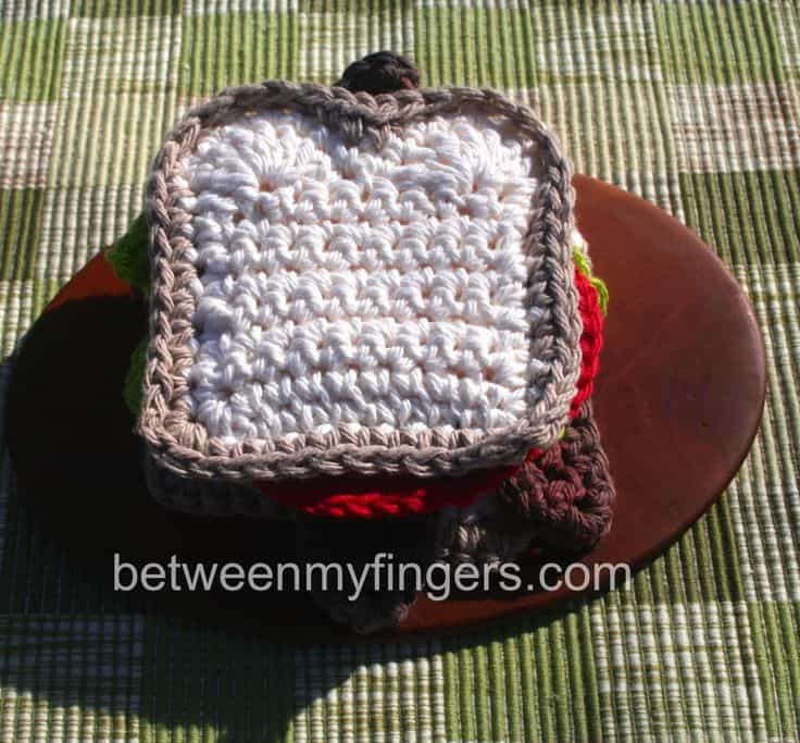Crocheted sandwich