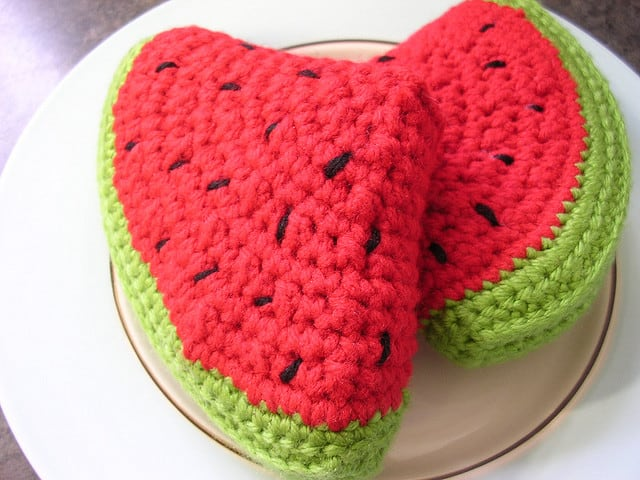 Crocheted watermelon