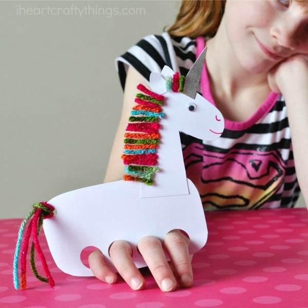 Cute unicorn finger puppets
