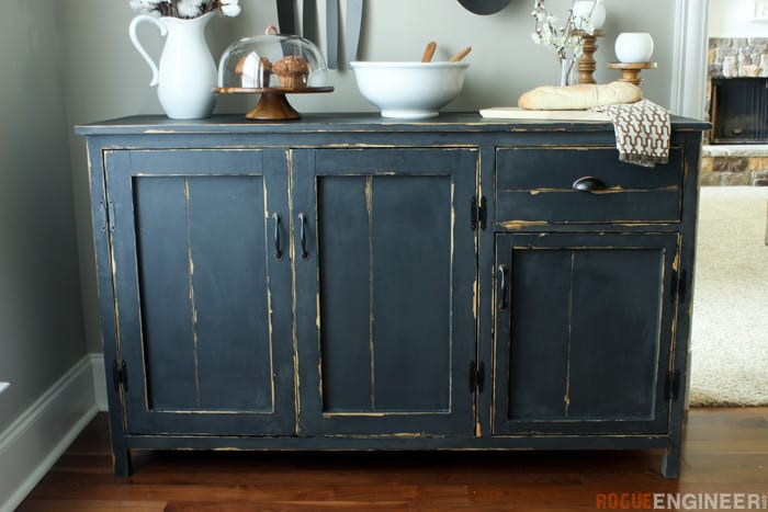 Diy farmhouse buffet plans rogue engineer 1