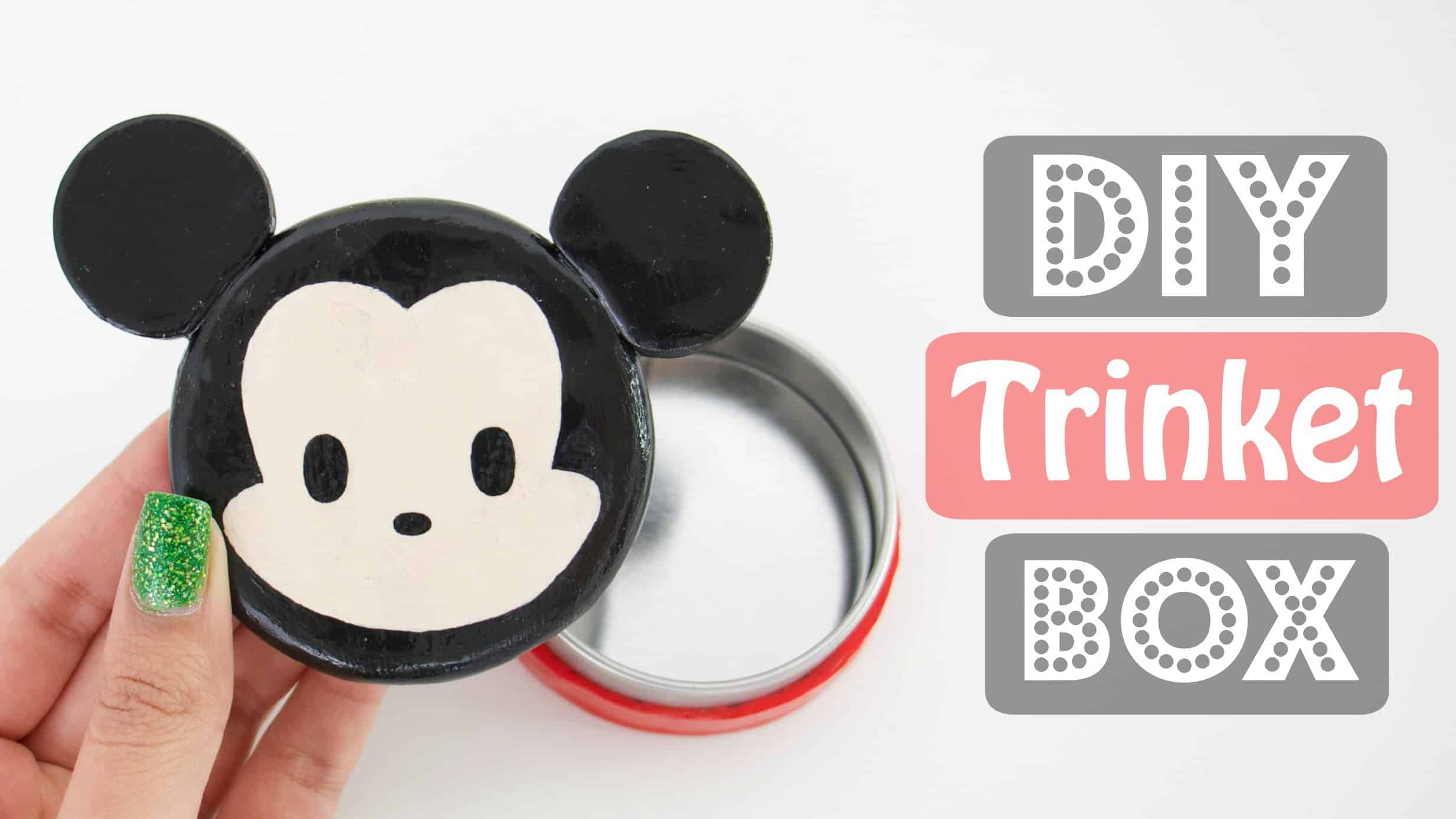 Diy tsum tsum inspired trinket box