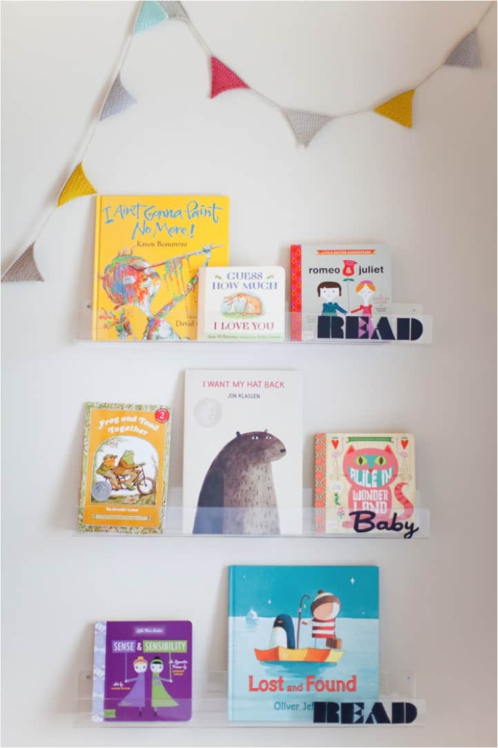 Diy clear bookshelves