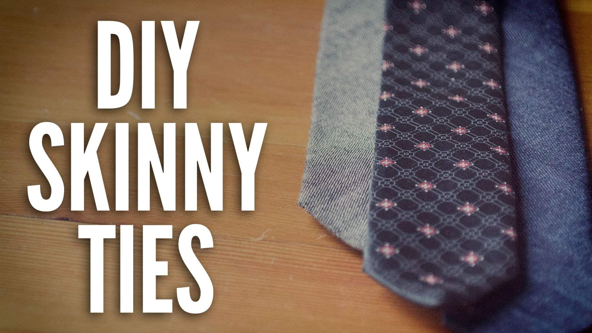 Diy denim skinny ties