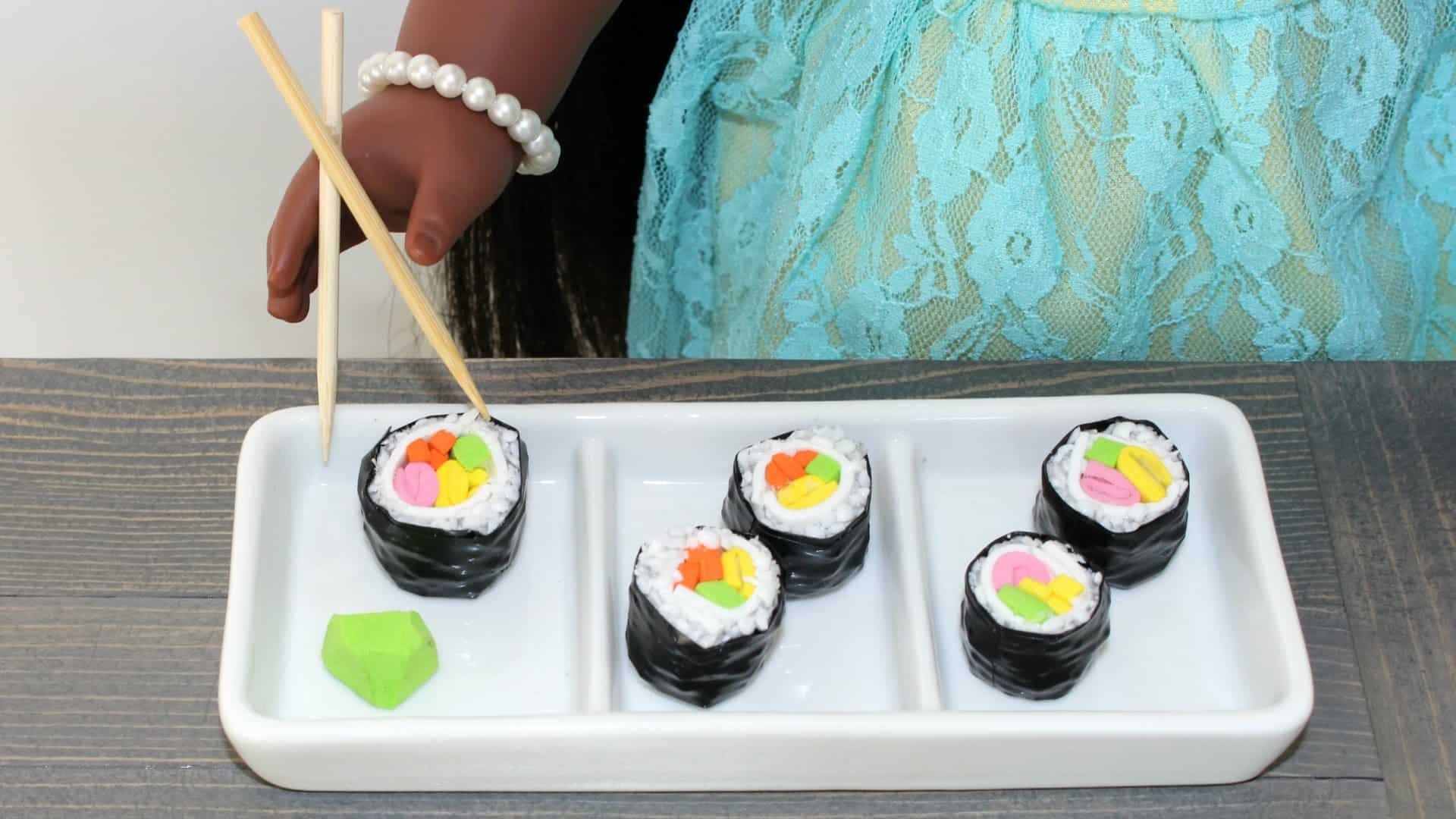 Diy doll sushi