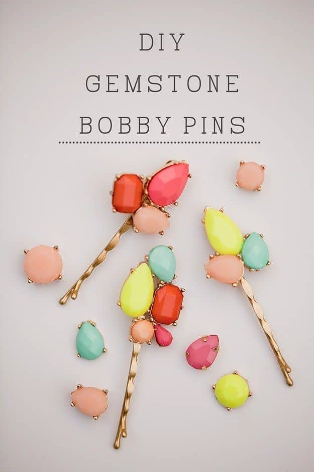Diy gemstone hair pins