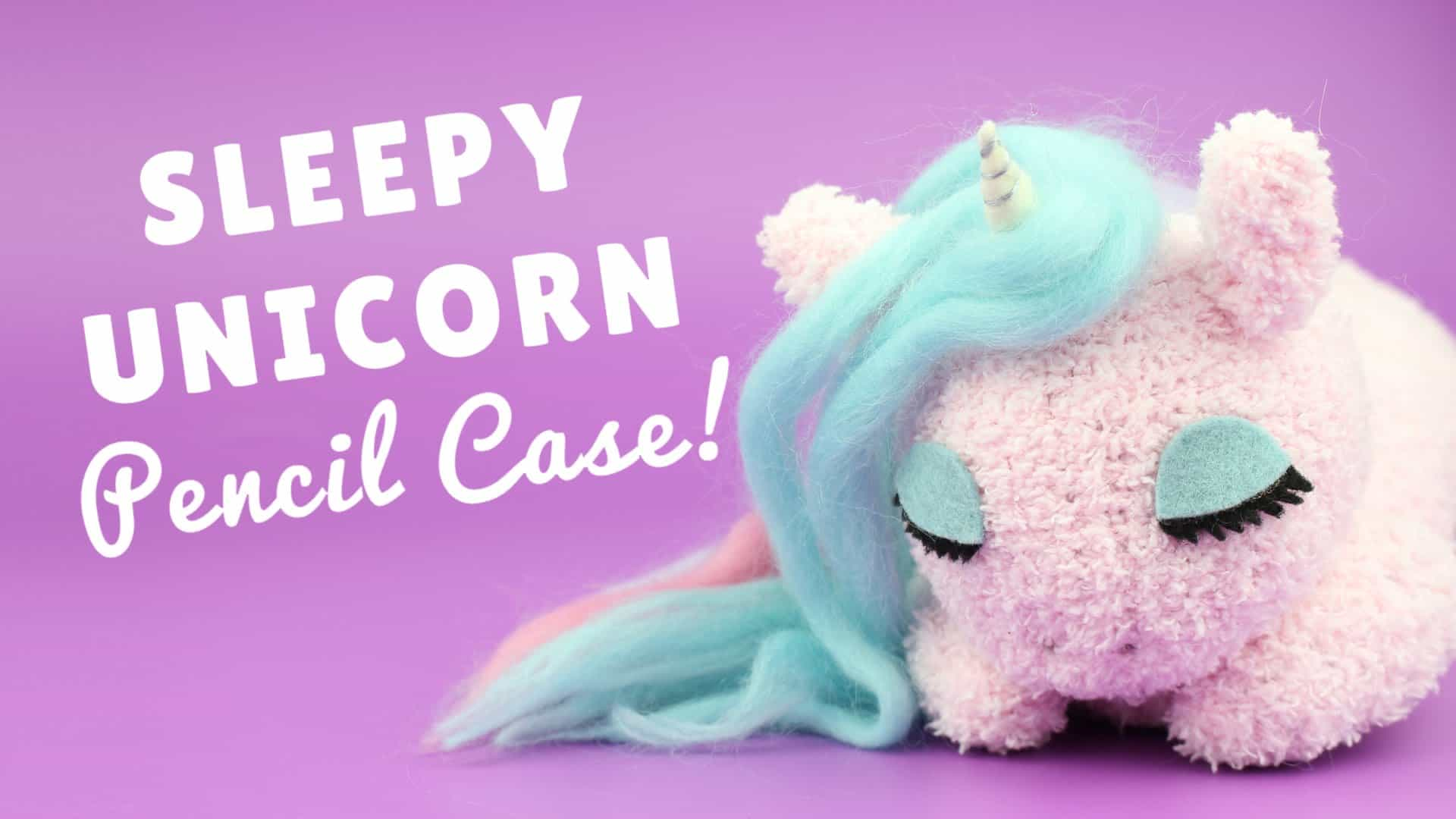 Diy sleepy unicorn pencil case