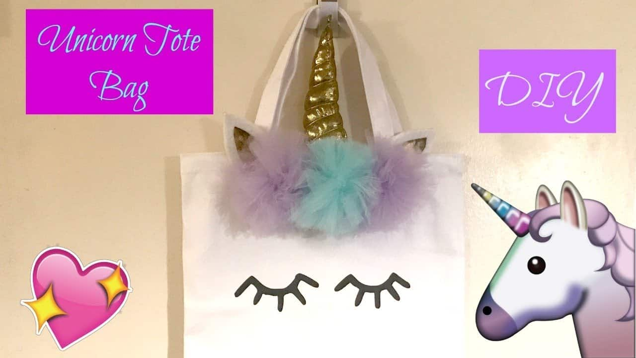 Diy unicorn tote bag