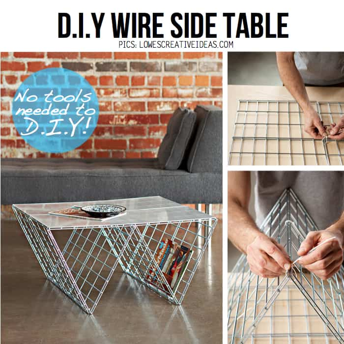 Attrayant Diy Wire Side Table