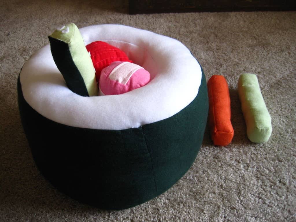 Deconstructing sushi pillow