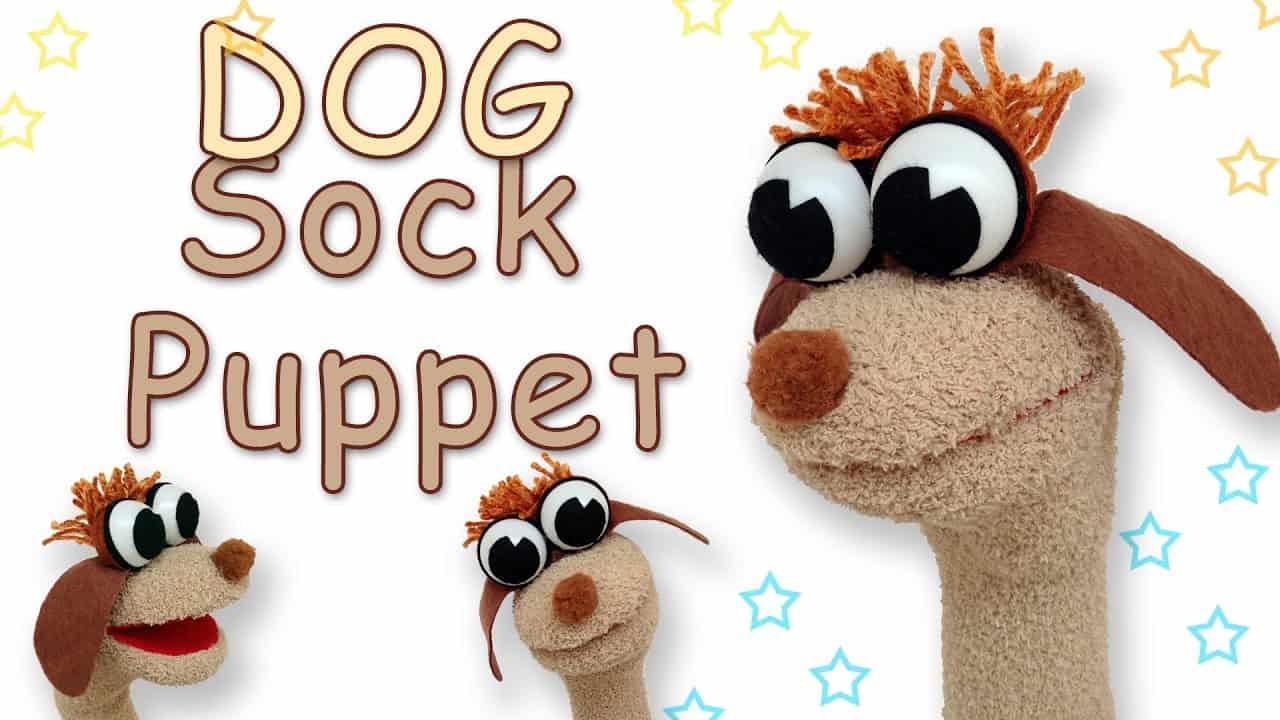 Dog sock puppets